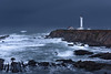 Guardian (Bob Bowman Photography) Tags: lighthouse california pointarena northcoast sunrise storm cliffs rocks waves seascape dark light water
