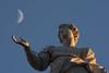 TheDarkSideOfTheSaint@SanPeter@Rome (Marco Di Ferrante) Tags: roma sanpietro sanpeter moon luna santi saints pietra stone marble marmo statua statue italia italy tele