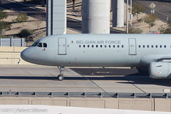 Belgian Air Force Airbus A321 CS-TRJ-3750 (rob-the-org) Tags: kphx phx skyharborinternational phoenixaz belgianairforce airbus a321 cstrj taxiing f80 300mm 1320sec iso100 cropped noflash