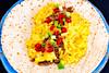 Pulled pork and macaroni cheese tortillas (garydlum) Tags: springonion chillies pork tortillas macaroni cheese chilliflakes