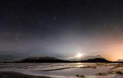 Starry Night (Traylor Photography) Tags: alaska night haze twentymileriver lights winter turnagainarm girdwood cookinletanchorage portagedepot snow panorama sewardhighway mountain starrynight ice anchorage unitedstates us