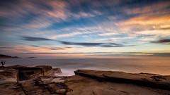 Here comes the sun... (ImagesByLin) Tags: australia avoca avocansw colours longexposure ocean rockformation rockshelf sea sky sunrise