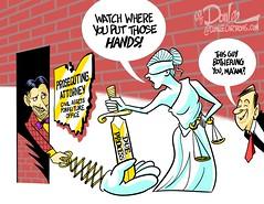 0117 due process cartoon (DSL art and photos) Tags: editorialcartoon donlee johnkasich ohio prosecutors dueprocess civilassetsforfeiture justice