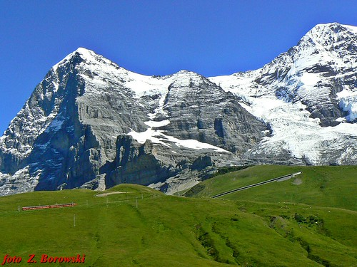 Eiger and Monch (4107 m)