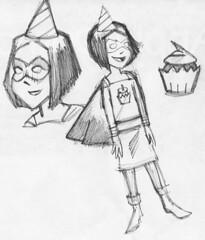 Birthday Girl (TomCherry3) Tags: placematsketch birthdaygirl superduper superheroine