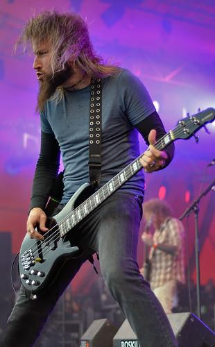 Troy Sanders of Mastodon @ 2011 Roskilde Festival