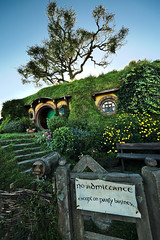 Hobbiton (Fabien Gotti) Tags: trou hobbit tree outside hill hole newzealand lotr lordofthering landscape