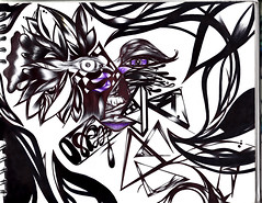 Rostro análogo (Linea Callejera.) Tags: face rostro cara flor flower triangulo triangle line linea lineas lines lapicero black blanco calle colombia medellin white drawing diseño dibujo dp13 comuna13 street