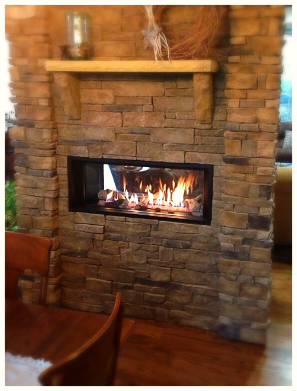Valor L1 Linear See-Thru Fireplace. Apison, Tn.