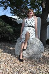 new64720-IMG_2869t (Misscherieamor) Tags: tv sitting feminine cd tgirl transgender mature sissy tranny transvestite crossdress ts gurl tg bigrock travestis travesti travestie m2f polkadotdress xdresser tgurl
