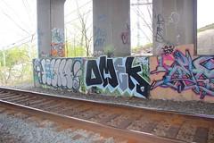 Mewt, Omek (NJphotograffer) Tags: new railroad bridge graffiti nj rail jersey graff trackside ogc omek mewt mewt2