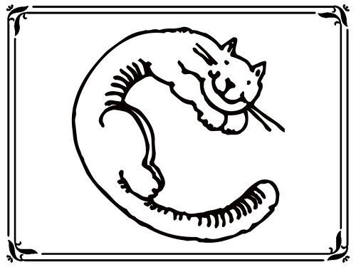Coloring Pages For Letter C : Flickriver: photoset 'cat style alphabet coloring pages' by damienaqila