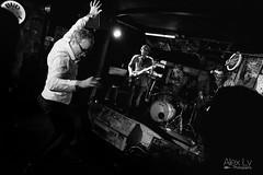 Lonely Dancer - 2 (alexlv10) Tags: show city winter light music black cold colour rock night contrast dark restaurant blackwhite dance neon audience drum bass guitar stage sydney band vivid indoor sing singer bassist drummer guitarist strobe