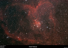 Heart Nebula - IC1805 (alastair.woodward) Tags: sky night canon stars outside heart clip filter nebula astrophotography goto pro astronomy modded cls guided stargazing guiding skywatcher heq5 ic1805 st80 150p 1000d qhy5lii