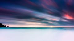 Streaky Skies (Myu83) Tags: ocean longexposure sunset sun water canon eos is mark iii filter 5d seychelles usm reverse graduated density neutral f4l 3stop singhray 10stop ef1635mm darylbenson hitechfilter reversegrad canon16354l