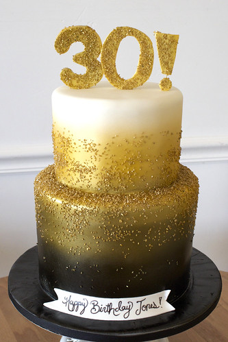 Glitter 30 Gold Cake