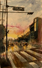 Sunset // 저녁노을 (velt.mathieu) Tags: sunset drawing korea croquis 한국