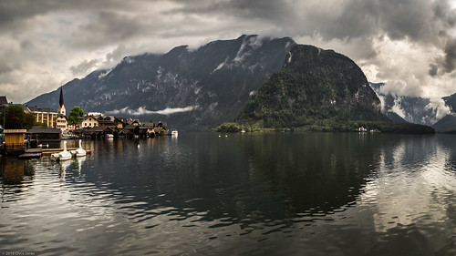 Lake Hallstatt Old Town Reflection