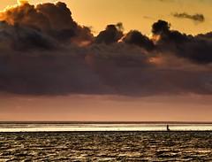 Human Insignificance (m@rk Williams) Tags: westkirby wirral flat sunset beach walk cloud landscape marine lake