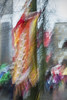 Chinese New Year Parade, Vancouver, 2016 (ScarletBlack) Tags: photoimpressionism motionblur parade movement flags chinesenewyear