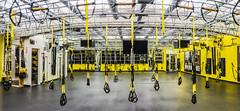trx training center panorama (pbo31) Tags: sanfrancisco california nikon d810 color night december 2016 winter boury pbo31 urban city gym pacificavenue nobhill workout yellow panorama stitched panoramic large grey training body pacificheights