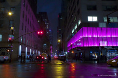 Street view of 5th Ave and 52nd street. (Sharon Enid Photography) Tags: newyork ilovenewyork photography sephotography nyc nightphotography newyorkatnight newyorkcity fifthavenue manhattan