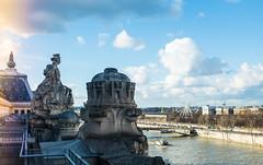 Vista del Sena desde el techo del Musée d'Orsay (Carlos Reusser Monsálvez) Tags: sena museoorsay muséedorsay paris techumbre reina riosena rueda ruedadechicago ruedadeparis orsay vistadeparis