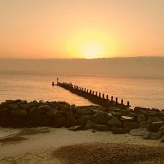 Sunrise on the last day of 2016 from the south Beach Lowestoft uk (madmax557) Tags: uk england eastcoast suffolkcoast northsea bythesea seascape seaside sunrise suffolk landscape skys sky onthebeach southbeach beach sea water rocks