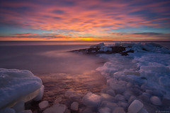 Ice_blocks (JLindroos) Tags: sunset ice sea seascape winter snow long exposure lee filters horizon colorful blocks rock colors sky clouds reposaari pori finland canon zeiss jlindroos