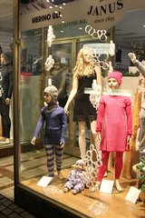 The Thermal Family (Photocapy) Tags: shop window showroom dummy underwear thermal slip black children dress warmly