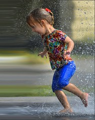 Warp Speed (swong95765) Tags: girl kid water wet running speed warp cute play fun