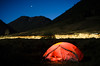 Camp along the road in the Rio Grande National Forest, Colorado (DrewGaines) Tags: night light paint painting tent rio grande national forest colorado mountains mountainscape long exposure marmot camping camp streaks stars drew gaines drewgaines