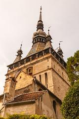 Sighisoara clocktower (Raoul Pop) Tags: architecture brickwork clocktower fall historic masonry medieval sighisoara spires transilvania romania ro
