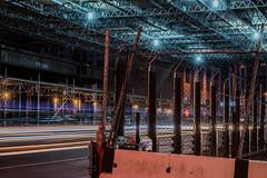 5.9 tons (pbo31) Tags: sanfrancisco california city summer color june night dark construction nikon traffic tunnel d800 2015 lightstream boury pbo31 financialdistrictsouth transbaytransitcenter