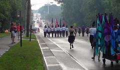 Raining on my parade (lindakowen) Tags: rain fog clouds parade 4thofjuly marchingbands rosefest severethunderstormwarning