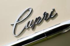 Capri (GmanViz) Tags: color detail car capri nikon automobile mercury chrome badge 1967 type script comet gmanviz d7000