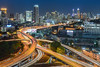 Bangkok Expressway (noomplayboy) Tags: city longexposure travel building tower beautiful architecture night asian thailand evening town twilight asia exposure downtown cityscape nightshot traffic outdoor bangkok background capital trails bluesky thai expressway statetower towm baiyoketowerii noomplayboy nanutbovorn