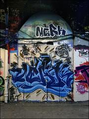 Nerk (Alex Ellison) Tags: urban graffiti boobs waterloo halloffame graff hof thetunnel southeastlondon nerk hmz leakestreet nerkone battlecancer
