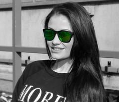 Jess Impiazzi (dennisgoodwin) Tags: sunglasses model brunette essex oakley btcc selectivecolour loveisland maxxis itv2 doningtonpark jessimpiazzi whirlybirdproperty