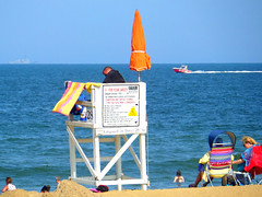 For Your Safety (rcvernors) Tags: ocean blue summer vacation swimming virginia boat sand candid lifeguard va vabeach summertime virginiabeach ems atlanticocean beachchair beachumbrella rcvernors foryoursafety shiponthehorizon rickchilders vabeachems
