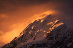 Above the Ashes (Jim Patterson Photography) Tags: light sunset newzealand mountain snow detail clouds nationalpark glow snowy peak craggy southisland shape aorakimountcook fierysky jimpattersonphotography jimpattersonphotographycom seatosummitworkshops seatosummitworkshopscom