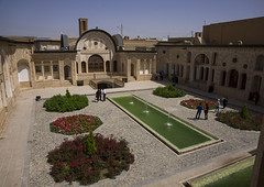 Courtyard Of Tabatabei Historical House, Isfahan Province, Kashan, Iran (Eric Lafforgue) Tags: travel houses house building water horizontal architecture garden outdoors photography persian pond asia day iran middleeast persia courtyard palace basin historic east iranian sight fullframe oriental orient eastern groupofpeople kashan locations kachan islamicarchitecture elegance destinations basins traveldestinations إيران prestigious иран 5people colourimage イラン irão isfahanprovince iranianculture 伊朗 이란 historicalresidence iran150766
