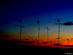 Atardecer... (E. Zamora) Tags: espaa moon canon spain venus astro luna powershot planets astronomy hs cuenca castilla mancha planetas astronomie jpiter casasimarro sx50