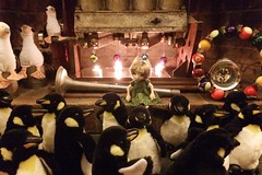 355/365 Christmas at Dad's (AluminumDryad) Tags: photoaday project365 dailypicture photochallenge hearth penguins toys