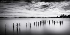 Strahan, Tasmania, Australia. (Aaron Bishop Photography) Tags: strahan tasmania tassie australia jetty wharf blackandwhite bw longexposure landscape leebigstopper