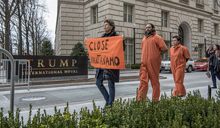 Anti-Torture Activists Hold a Demonstration Outside Trump International Hotel in Washington, DC