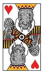 KingHearts (Don Moyer) Tags: card playingcard king donmoyer moyer brushpen creature