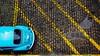 Blue Beetle (AdrianoSetimo) Tags: fusca volkswagen parking estacionamento blue azul amarelo symmetry simetria plongée 169 16x9 olympusomdem10 em10 olympus17mm mzuiko17mm olympus beetle ngc hss car carro