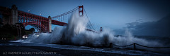 Fort Point (Andrew Louie Photography) Tags: fort point golden gate bridge blue hour king waves splash wet storm rare power iconic