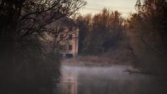 altes Uppenbornwerk (w.lichtmagie) Tags: landschaft nebel flus isar wasserkraftwerk power plant fog canonefs1585 hdr ngc strom moosburg wasser water natur nature river platinumheartaward